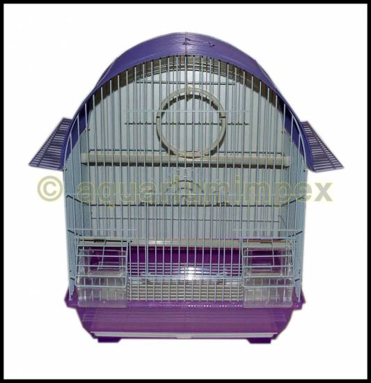 vogelk fig wellensittich k fig lila weiss ebay. Black Bedroom Furniture Sets. Home Design Ideas