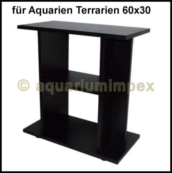 unterschrank schrank 60 30 budget 60x30 cm schwarz aquarien terrarien ebay. Black Bedroom Furniture Sets. Home Design Ideas