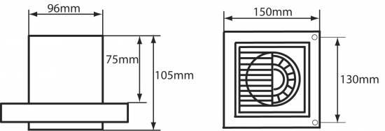 ventilator l fter abluft bad wc wand rohr ep5309 100 ebay. Black Bedroom Furniture Sets. Home Design Ideas